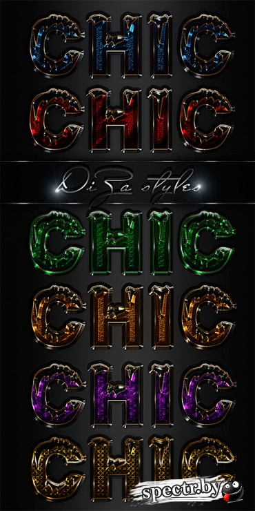 Chic Photoshop styles