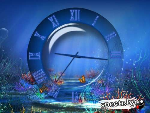 Aqua Clock ScreenSaver 1.0